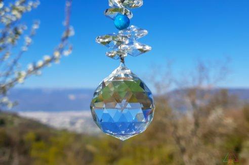 Cristal Moyen- Apatite Bleue